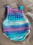 Blue orcid baby romper