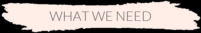 SidebarTab__What we need